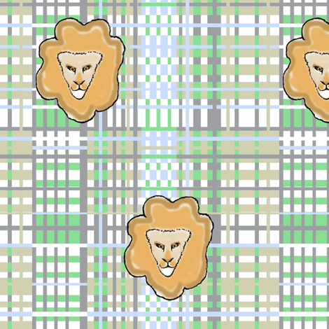 Hide and Seek / lion weave fabric by paragonstudios on Spoonflower - custom fabric