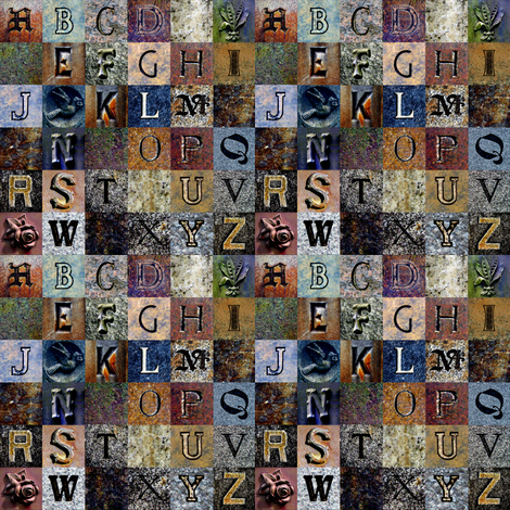 Churchyard Sampler fabric by spontaneouscombustion on Spoonflower - custom fabric