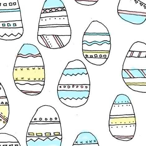 egg doodles fabric by megananne on Spoonflower - custom fabric