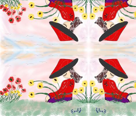 Meditate_on_life_go fabric by sunshine12 on Spoonflower - custom fabric