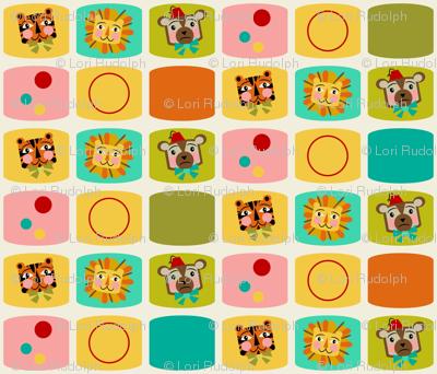 Circus Blocks ~ on vanilla (green, orange and blue)