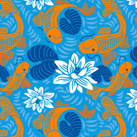 Textured Koi fabric by dianne_annelli on Spoonflower - custom fabric