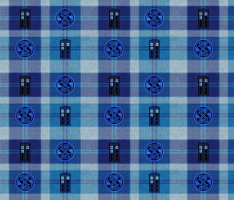 A Tardis Plaid fabric by marchhare on Spoonflower - custom fabric
