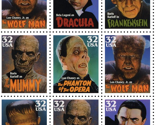 Classic Movie Monsters Stamps - Small