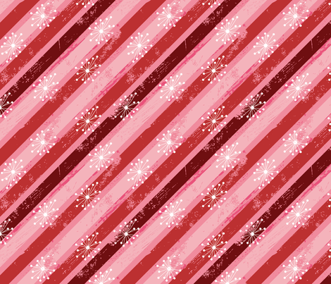 Candy Cane Stripe fabric by cynthiafrenette on Spoonflower - custom fabric