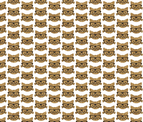 Sparkle Kitties Gold fabric by cynthiafrenette on Spoonflower - custom fabric
