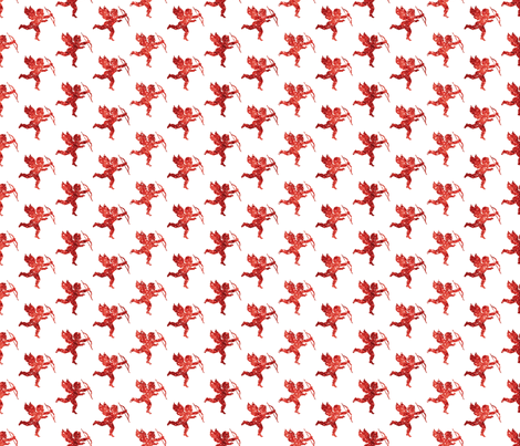 Glitter Cupids Red fabric by cynthiafrenette on Spoonflower - custom fabric