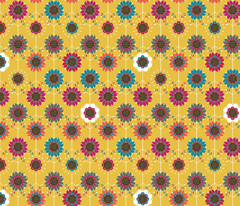 Funky Flowers fabric by cynthiafrenette on Spoonflower - custom fabric