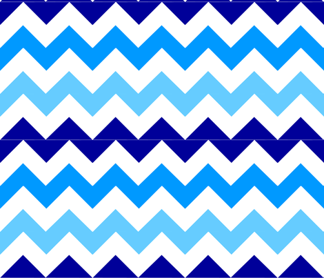 Blue Chevron fabric by stickelberry on Spoonflower - custom fabric