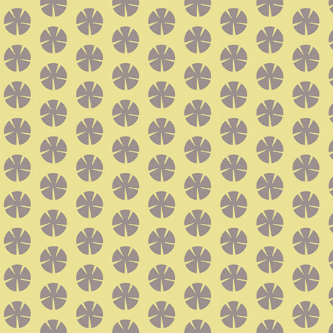 Mauve Mums on Butter fabric by boris_thumbkin on Spoonflower - custom fabric