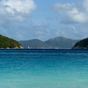St. John beach view