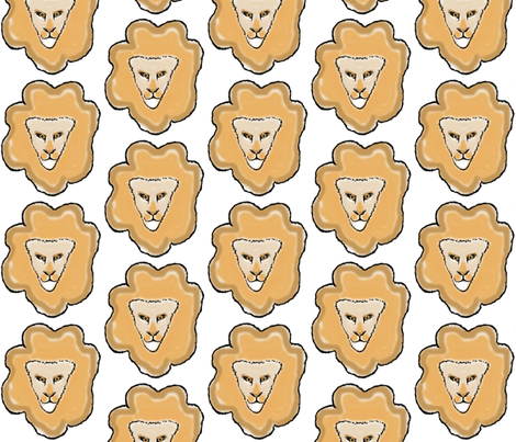 Hide and Seek / Lion fabric by paragonstudios on Spoonflower - custom fabric