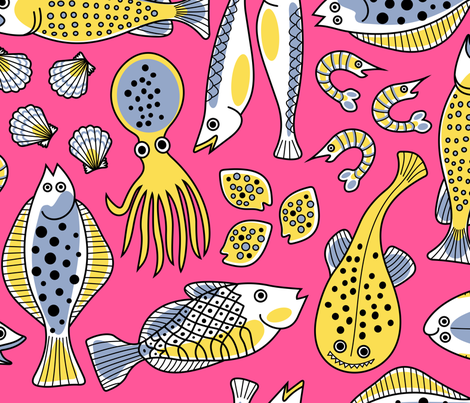  Fish Market fabric by yellowstudio on Spoonflower - custom fabric