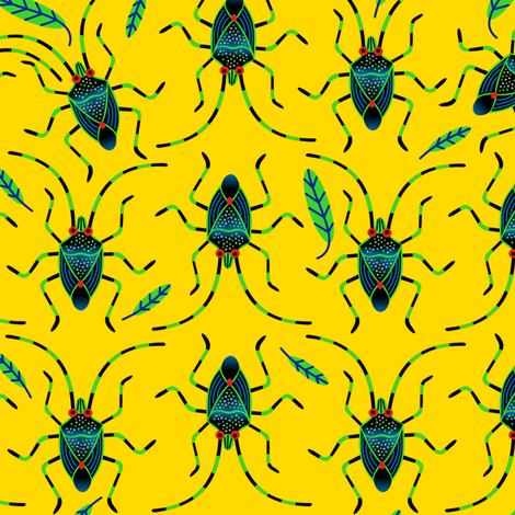 Shield Bugs fabric by yellowstudio on Spoonflower - custom fabric