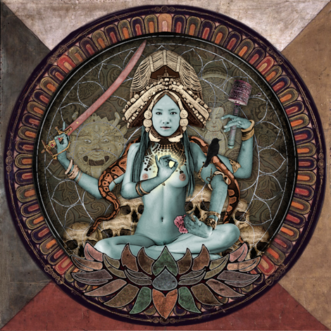 Avalokitesvara fabric by curlycue on Spoonflower - custom fabric