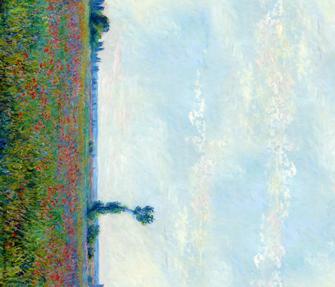 Claude Monet - Poppy Field - Border