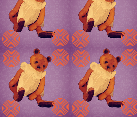 Teddy bear Bernadette purple