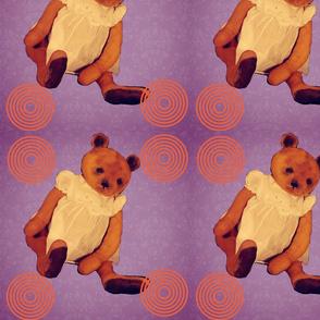 Teddy bear Bernadette purple