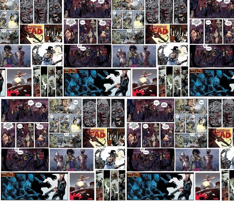 The Walking Dead in color fabric by motleycruiser on Spoonflower - custom fabric