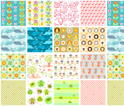 Swatches for Natashagrace fabric by heleenvanbuul on Spoonflower - custom fabric