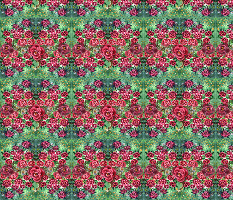 Roses_and_fairies fabric by vinkeli on Spoonflower - custom fabric