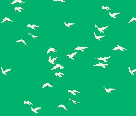 Emerald Flock fabric by bunni on Spoonflower - custom fabric