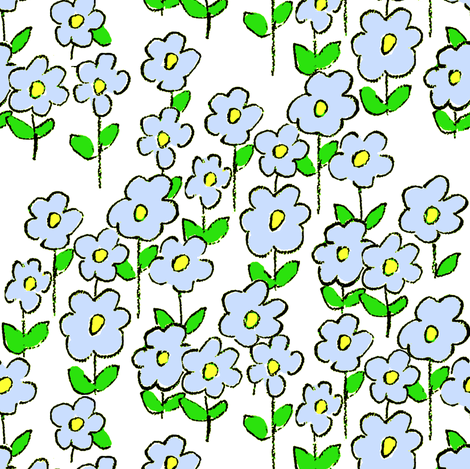 pretty posies  fabric by paragonstudios on Spoonflower - custom fabric