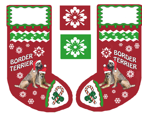 BORDER_TERRIER_Christmas_stocking fabric by dogdaze_ on Spoonflower - custom fabric