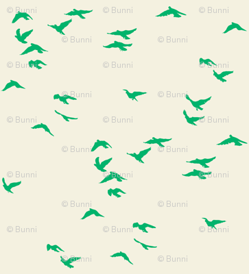 Emerald Flock Reversed