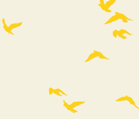 Sunshine Flock Reversed fabric by bunni on Spoonflower - custom fabric