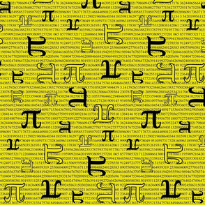 Digits of Pi (Yellow)