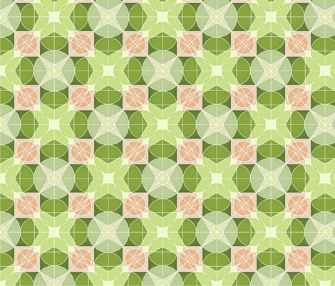 Retro geometric 2 fabric by heleenvanbuul on Spoonflower - custom fabric