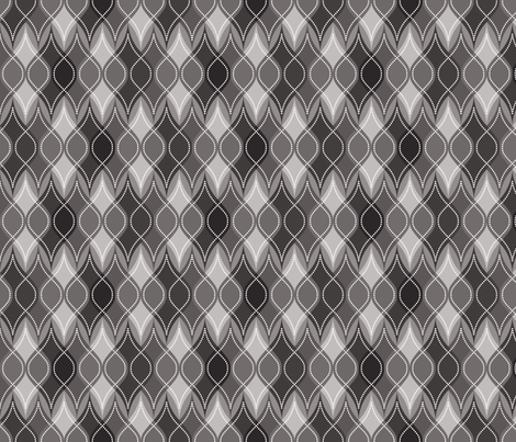 Charcoal Baubles fabric by robyriker on Spoonflower - custom fabric