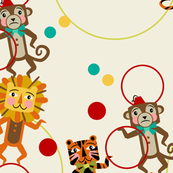 Juggling Hoops ~ Lions, Tigers and Monkeys