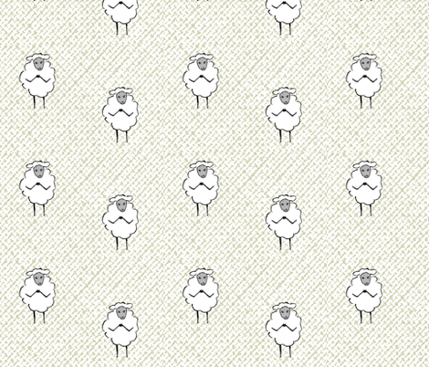 Baby Lamb / weave fabric by paragonstudios on Spoonflower - custom fabric