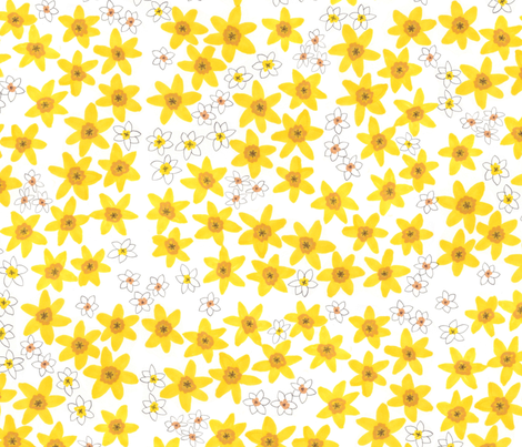Daffodil  fabric by jo_clark on Spoonflower - custom fabric