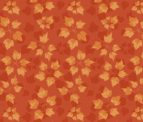 Leaf circles - red & orange fabric by linkolisa on Spoonflower - custom fabric