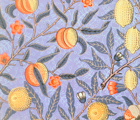 'Blue Fruit' or 'Pomegranate' fabric by tomhaggerty on Spoonflower - custom fabric