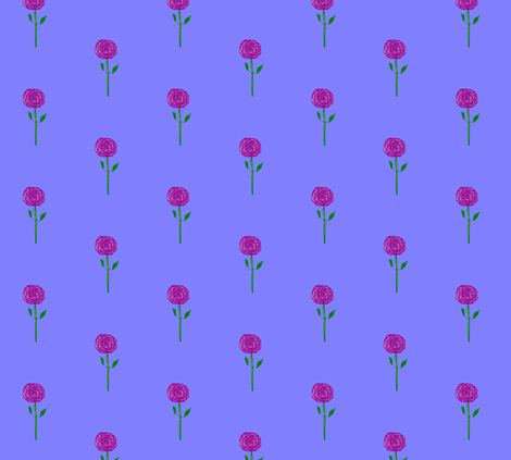 Purple Rain Flowers, straight up, small fabric by susaninparis on Spoonflower - custom fabric