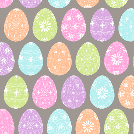Painted Eggs fabric by alissecourter on Spoonflower - custom fabric