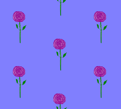 Purple Rain Flowers, straight up, large fabric by susaninparis on Spoonflower - custom fabric