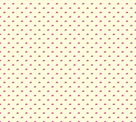 Polka Rose fabric by loloballs on Spoonflower - custom fabric