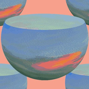 Floating Bowls Painted with Sunrise