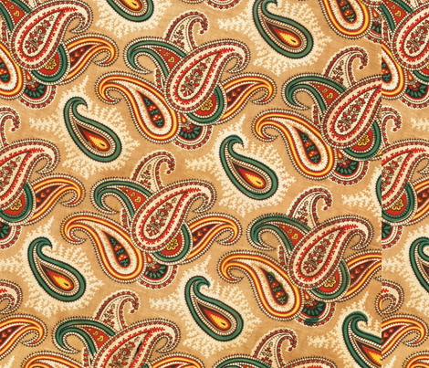 Paisley patterned lining of an abr ikat munisak  fabric by tomhaggerty on Spoonflower - custom fabric