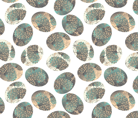 Eastern eggs on white fabric by kociara on Spoonflower - custom fabric