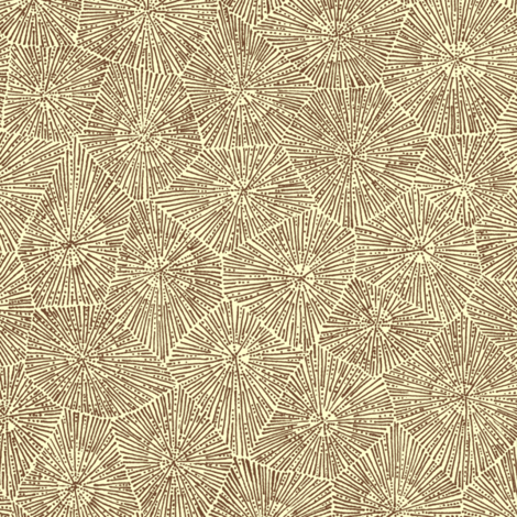 petoskey stone in chocolate and cream fabric by weavingmajor on Spoonflower - custom fabric