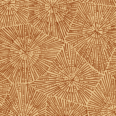 large petoskey stone in brown fabric by weavingmajor on Spoonflower - custom fabric