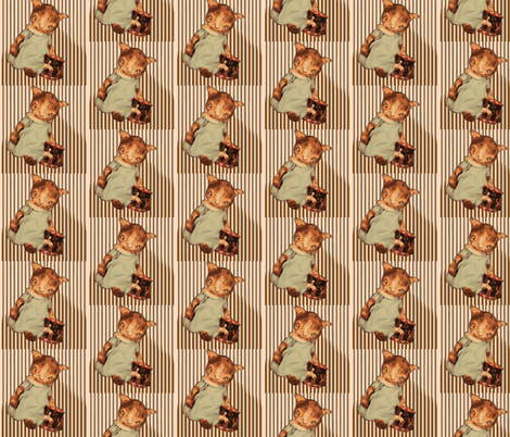Kitten stripes fabric by janshackelford on Spoonflower - custom fabric