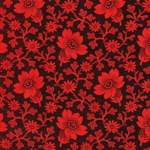 Pre-Revolutionary Floral cloth