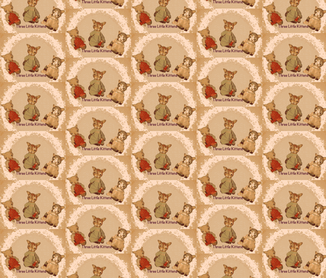 THREE LITTLE KITTENS fabric by janshackelford on Spoonflower - custom fabric